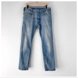Diesel Poiak Button Fly Light Wash Jeans